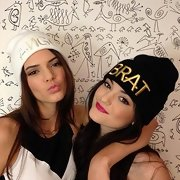 Kylie Jenner went cheeky with this 'Brat' beanie on Instagram.