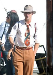 Ryan Gosling's retro-print tie was the perfect accessory to give his outfit a vintage vibe.