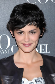 Audrey Tautou sported her trademark pixie cut at the Paris premiere of 'Coco Avant Chanel.'