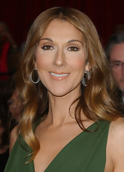 Celine Dion attended the 2007 Oscars wearing long, center-parted waves.