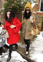 Katy Perry wore cute embellished ballet flats while out in London.