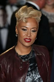 Emeli Sande hit the world royal premiere of 'Skyfall' wearing her hair in a curly fauxhawk.