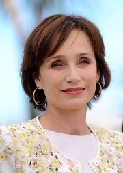 Kristin Scott Thomas sported a simple bob at the Cannes Film Festival photocall for 'Only God Forgives.'