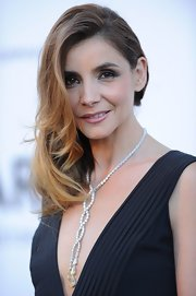 Clotilde Courau amped up the glam factor with a diamond statement necklace.