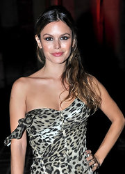 Rachel Bilson wore gray nail polish to match her neutral animal-print gown at the Cavalli 40th anniversary party.