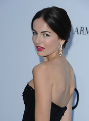 Camilla Belle made our eyes pop with those ultra-glam Cartier diamond chandelier earrings she wore to the amfAR Cinema Against AIDS Gala.