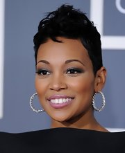 Monica attended the 2011 Grammys rocking an edgy fauxhawk.