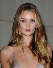 Rosie Huntington-Whiteley's retro hairstyle at the Burberry Body launch had a Brigitte Bardot feel.