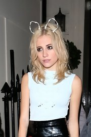 Pixie Lott celebrated her birthday wearing a pearl-beaded cat ear headband from her collaboration with Rock 'N Rose.