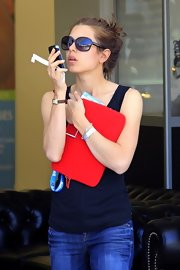Charlotte Casiraghi accessorized with a pair of oversized sunnies at the Global Champions Tour.