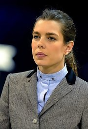 Charlotte Casiraghi sported a casual ponytail at the Gucci Masters.