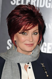 Sharon Osbourne rocked a layered razor cut during her book signing.