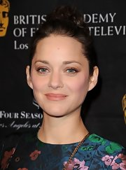 Marion Cotillard kept her beauty look on the subtle side with neutral eyeshadow and pale lipstick.