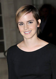 Emma Watson was spotted outside the Ritz Hotel wearing a super-cute pixie.