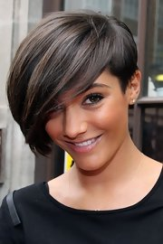 Frankie Sandford sported a short emo cut while visiting BBC Radio 1.