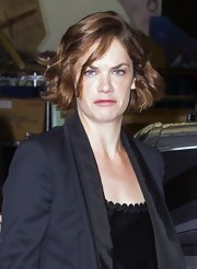 Ruth Wilson visited the ITV Studios wearing a cute curled-out bob.