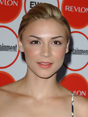 Samaire Armstrong wore her hair in a neat fauxhawk at the Entertainment Weekly pre-Emmy party.