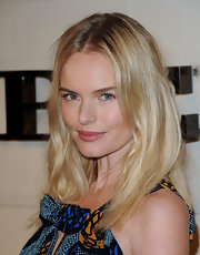 Kate Bosworth was sexily coiffed with a slightly messy center-parted 'do during the Burberry Body launch.