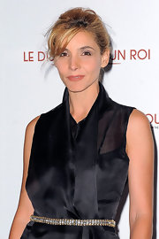 Clotilde Courau styled her black outfit with a bejeweled belt for the premiere of 'The King's Speech.'