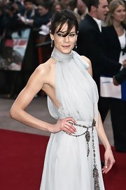 Michelle Monaghan jazzed up her dress with a beaded belt for the premiere of 'Mission: Impossible III.'