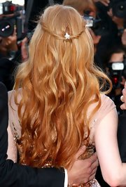Jessica Chastain adorned her boho-style hair with a diamond pin by Chopard for the Cannes premiere of 'Lawless.'