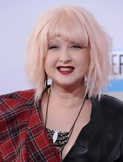 Cyndi Lauper attended the American Music Awards 2012 rocking a short cut with bangs.