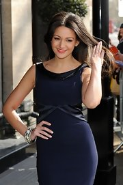 Michelle Keegan attended the TRIC Awards wearing a chunky silver bracelet adorned with a huge pearl.