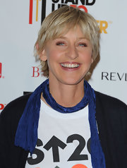 Ellen DeGeneres looked trendy with her layered razor cut at the Stand Up to Cancer event.