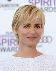 Judith Godreche was edgy-glam with her layered razor cut at the 2012 Film Independent Spirit Awards.