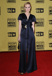 Jena Malone looked effortlessly stylish in a navy wide-leg jumpsuit at the 2010 Critics' Choice Awards.