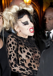 Lady Gaga amped up the edge factor with Kiss-inspired makeup.