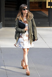 Rachel Bilson donned towering Stella McCartney platform pumps for a business meeting.