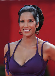 Padma Lakshmi looked regal at the Primetime Emmys wearing this massive curly bun.