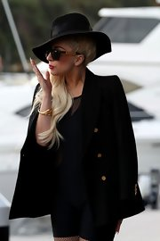 Lady Gaga headed out in Sydney wearing what seemed like a gold skeleton bracelet.