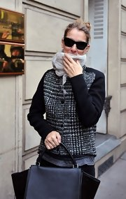 Celine Dion hid her eyes behind a pair of butterfly sunnies while out in Paris.