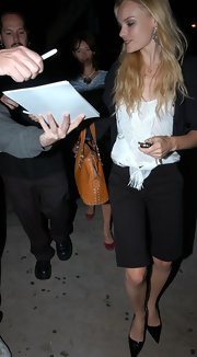 Kate Bosworth rocked a pair of long shorts while out clubbing in West Hollywood.