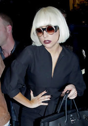 Lady Gaga matched her mani to her outfit for a night out.