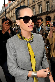 Katy Perry stepped out wearing a pair of cool dark glasses.