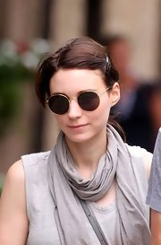Rooney Mara put on a pair of round shades for a stroll through the West Village.