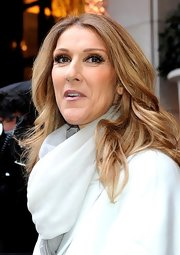 Celine Dion sported a chic wavy 'do while headed out in Paris.