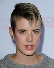Agyness Deyn went masculine-chic with this fauxhawk at the 2010 Teen Vogue Young Hollywood Party.