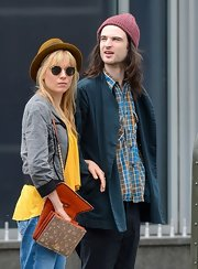 Sienna Miller was spotted out in Manhattan carrying the Lancel Dalidol bag.