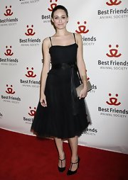 Emmy Rossum was an absolute charmer in her tulle LBD during the Lint Roller Party.