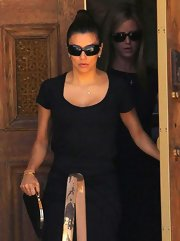 Eva Longoria stepped out in La Mirada looking seriously chic in a pair of Chanel shades.