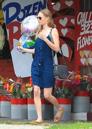 Kate Bosworth was spotted buying balloons wearing a breezy blue day dress.