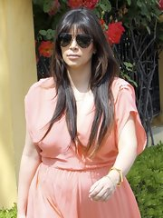 Kim Kardashian accessorized with a pair of classic aviators as she headed to lunch.