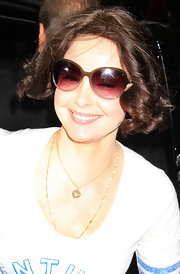 Ashley Judd framed her face with a curled-out bob for her visit to 'Good Morning America.'