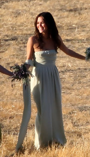 Rachel Bilson did maid of honor duty for 'OC' creator Josh Schwartz's wedding wearing a lovely mint-green strapless gown.