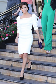 Eva Longoria kept it classy at the Monte Carlo Television Festival in a Vivienne Westwood LWD with sculptured sleeves.