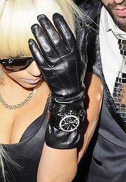 Lady Gaga accessorized with a sporty black chronograph watch while enjoying a night out at Punk Nightclub.